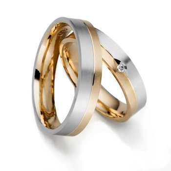 SET Eheringe / Trauringe Faithful Love 5 mm in gelbgold...