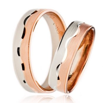 SET Eheringe / Trauringe Loving You 5 mm in Rosegold/...