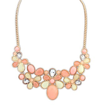 Statement Kette Summer Love Gold  im Organza Beutel
