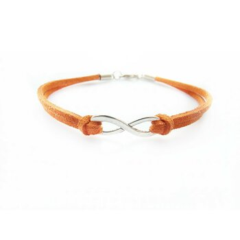 Armband Infinity Schleife orange