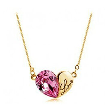 HERZ Restless Heart Swarovski Elements pink vergoldet...