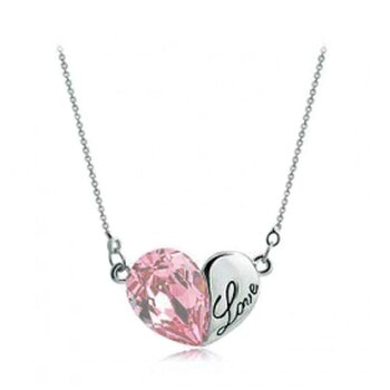 HERZ Restless Heart Swarovski Elements rosa inkl. Kette...