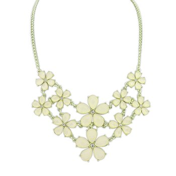 Statement Kette / Collier Flower  Sorbet pastell  Lemon...