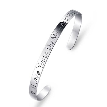 Armreif I Love You to the Moon AND Back aus  925 Silber...
