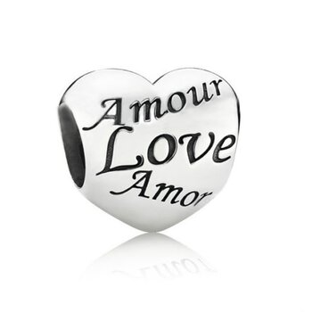 Bead Perle  Amour Love Amor, ...  aus 925 Silber OHNE...