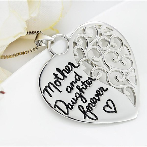 Anhänger Herz Amulett  Mother and Daughter forever  aus 925 Silber inkl. Kette im Etui