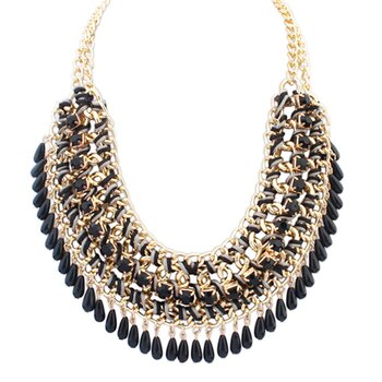 Statement Collier Black Mamba gold