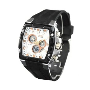 Ohsen Funktiontionsuhr LED Chrono Digital schwarz weiß...