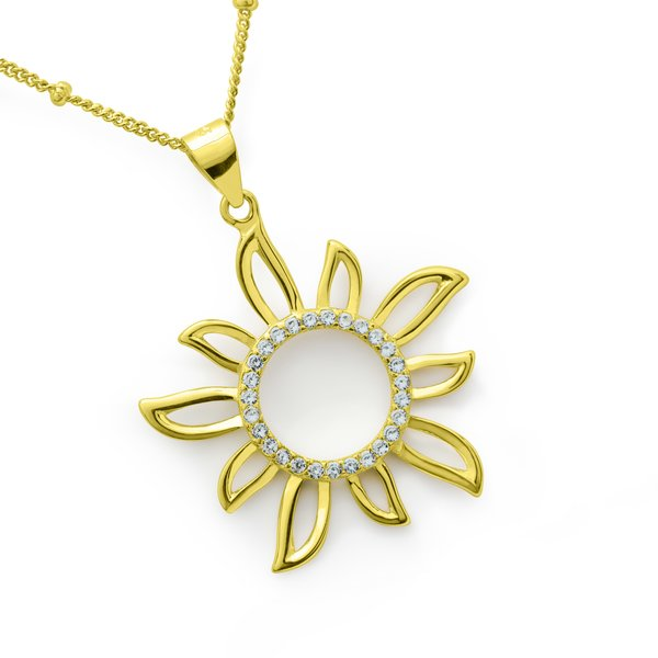 Necklace Sol Sunshine 925 silver gold