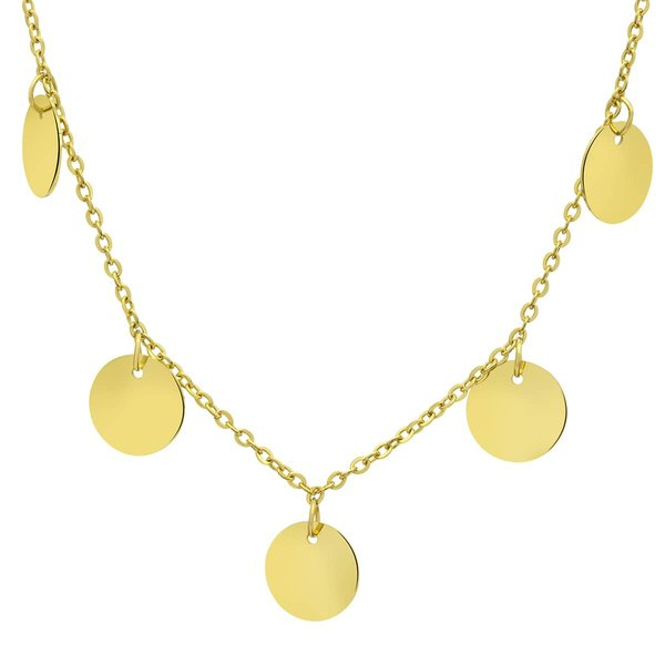 Collier Coinflip goldfarben