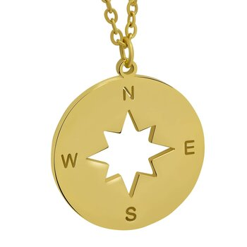 Pendant Compass golden